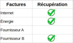 Créez une liste de récupération des factures fournisseurs