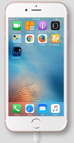 Aperçu du raccourci sur l'écran d'accueil d'un iPhone 6S