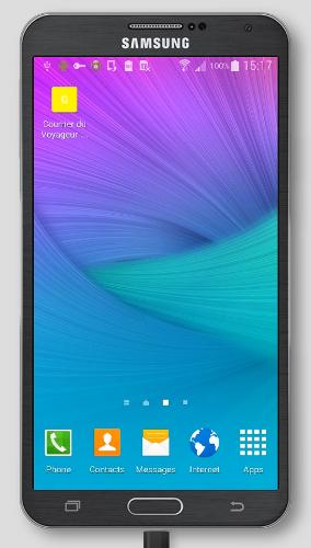 Un aperçu de l'application ajouter à l'écran d'accueil sur un téléphone Androïd
