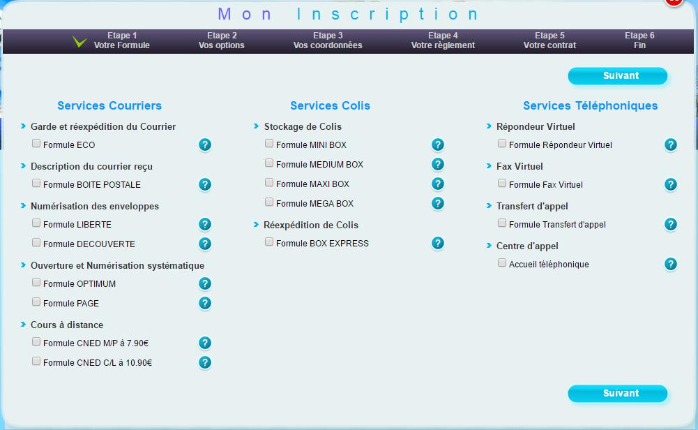 Les offres de Globe Services : Courrier du Voyageur, French Office, ColiBOX